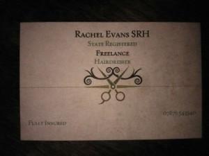 Rachel Evans SRSH Freelance Mobile Hairdresser